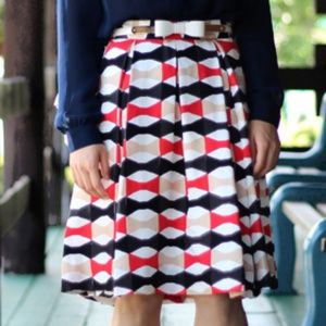 Kate Spade Jolie Silk Bow Pattern Skirt